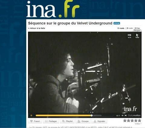 lou reed velvet underground ina dailymotion