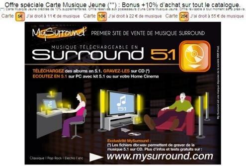 Carte Musique Jeune CMJ MySurround