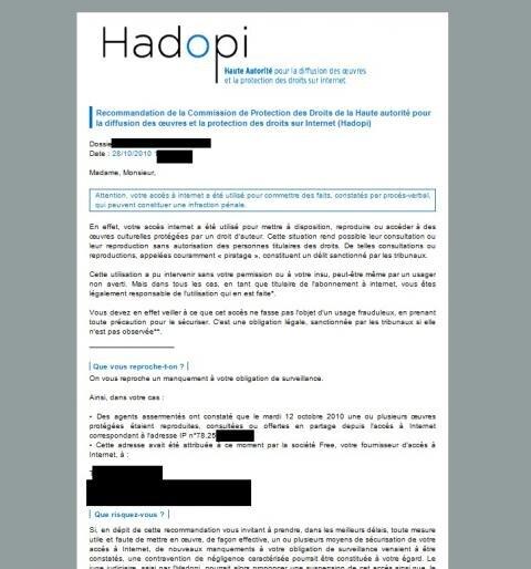 hadopi freewifi mail avertissement