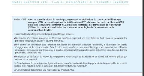 Conseil national plan économie numérique