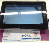 Toshiba Folio 100 en magasin Engadget