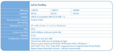 LaCie FastKey clef USB 3.0