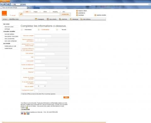 orange arnaque phishing carte bleue