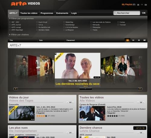 arte+7 arte plus 7 TV rattrapage dailymotion