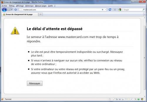 mastercard blocage DDOS DOS erreur Wikileaks