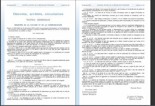 décret labellisation hadopi verrous logiciels