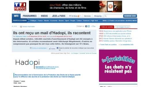 TF1 Hadopi