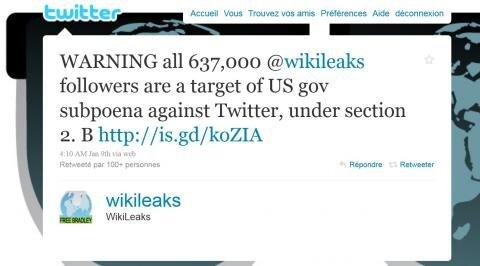 wikileaks Subpoena injonction twitter