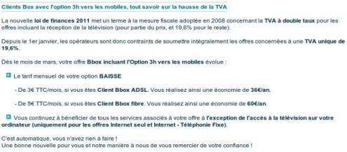 Bouygues Telecom Bbox appels illimites 3 mobiles