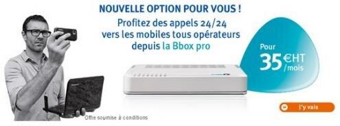 Bouygues Telecom Bbox appels illimites mobiles Pro