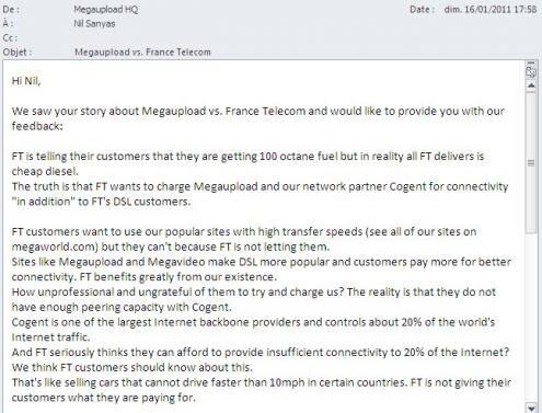 MegaUpload vs France Telecom