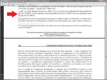 rapport cour des comptes SACEM transparence