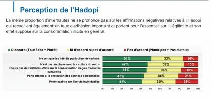 hadopi étude perception piratage illicite licite