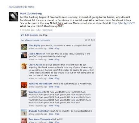Facebook piraté Mark Zuckerberg