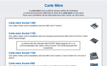Bug Intel Top Achat