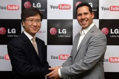 Yourube partenariat LG vidéos 3D
