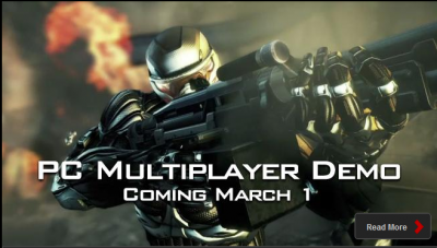 Annonce demo multiplayer Crysis 2
