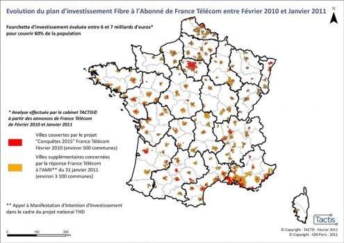Orange France Telecom FTTH carte