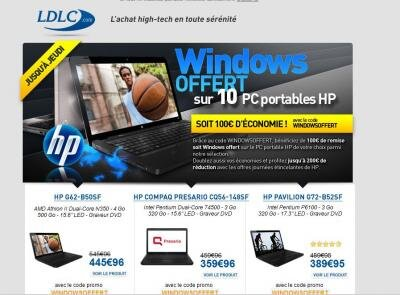 LDLC windowsoffert detaxe windows 100 euros