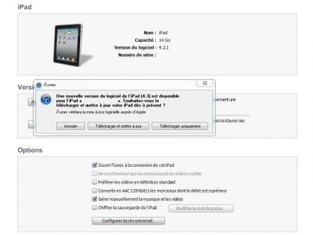 iOS 4.3 iTunes