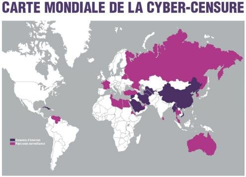 RSF Carte mondiale Cyber Censure France