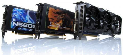 Comparatif de GeForce GTX 580 overclockees
