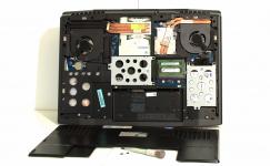 Alienware M17x entrailles