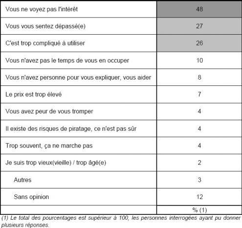 TNS Sofres sondage Internet seniors