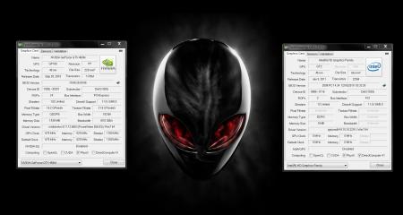 Alienware M17xR3 GPU-Z GTX 460 HD 3000