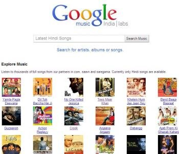 Google music india labs