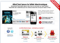 Allo Ciné Billet électronique