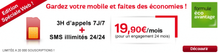 SFR forfait 3 heures