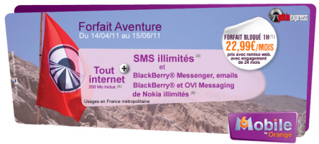 Orange forfaits bloqués smart Aventure