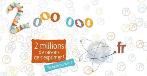 afnic 2 millions .fr domaine france
