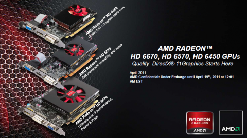 Radeon HD 6450 6570 6670