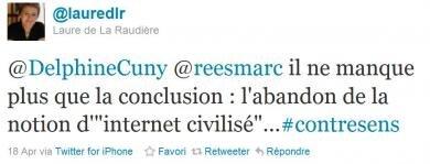 Laure de la Raudiere internet civilisé responsable