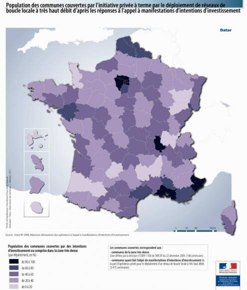 FTTH carte france 2011-2016