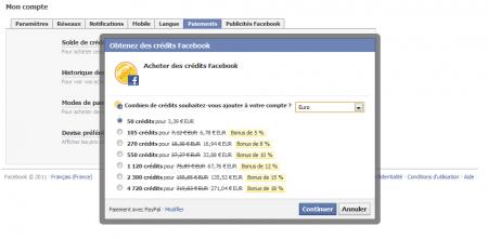 facebook crédit publicité vidéo