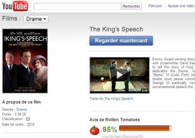 YouTube Movies King Speech