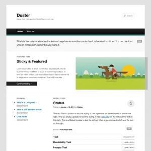 wordpress duster