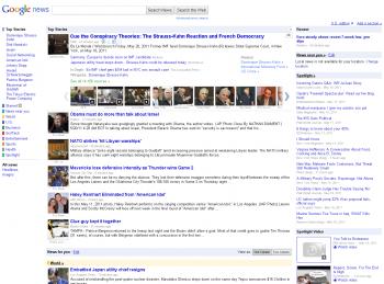 Google News Mai 2011