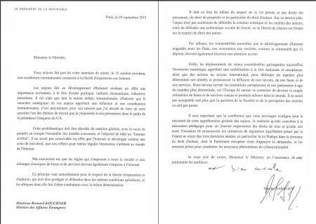 Nicolas Sarkozy Bernard Kouchner liberté d'expression hadopi