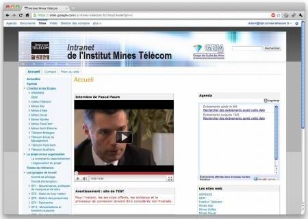 intranet mines télécom google