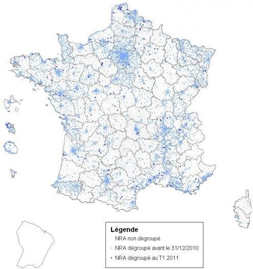 NRA degroupage France 31 mars 2011