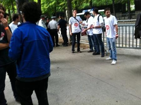 Hadopi manifestation Quadrature du Net QDN Police