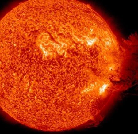 Soleil eruption Nasa