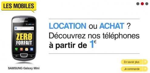 Zero Forfait telephone location 1 euro