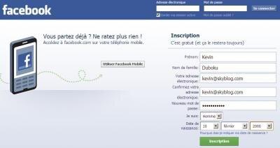 Facebook Kevin