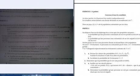 fuite copie bac S probabilité scan