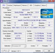 Dell XPS15z CPU-Z Core i5 2410M